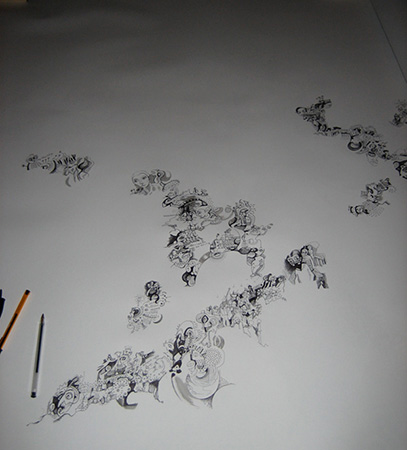 Drawing in Progress - Beginning